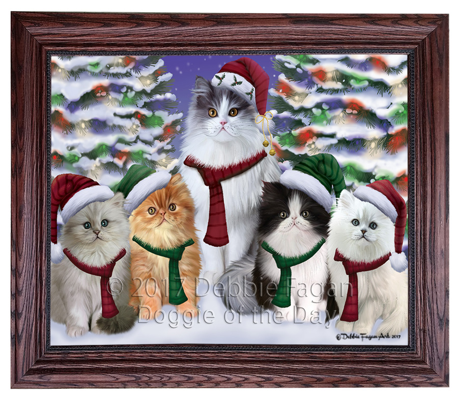 Persian Cats Family Portrait in Framed Canvas Print Wall Art ASD83 ...
